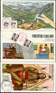 #2180 // #2188 HAND PAINTED FDC CACHET BY COLLINS (6) DIFFERENT BP7420