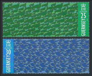 Guernsey 551-552,MNH.Michel 670-671. EUROPE CEPT-1995.Peace & Freedom.Doves.