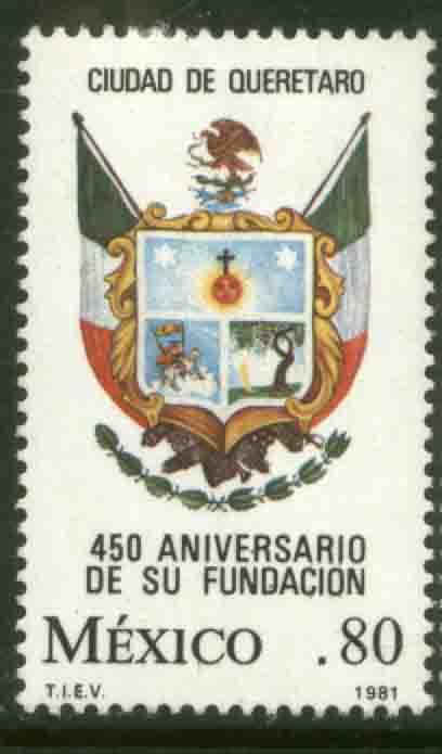 MEXICO 1240, 250th Anniv of the City of Queretaro MINT, NH. VF.
