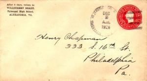 United States Virginia Alexandria Va. (Theological Seminary Sta.) 1926 4b-bar...