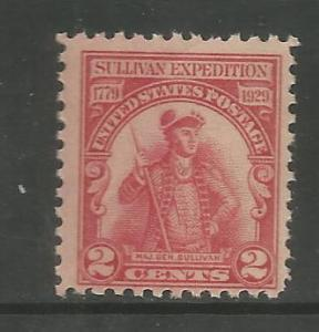 U.S, 657, MNH, SULLIVAN EXPEDITION ISSUE, PORTRAIT, MAJOR GENERAL JOHN SULLIVAN
