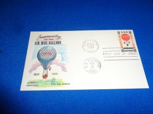 FLEUGEL MULTI COLORED CACHET FDC:  US SCOTT# C54