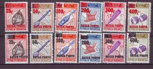 J21186 Jlstamps 2 1978 indonesia sets mh red & black ovpt,s #j118-23 j124-9