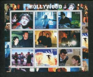 Tajikistan Commemorative Souvenir Stamp Sheet - Hollywood Movies
