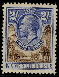 NORTHERN RHODESIA GV SG11, 2s brown & ultramarine, M MINT. Cat £30.