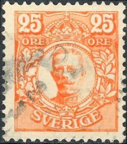 Sweden #84 25o King Gustav V Used/H