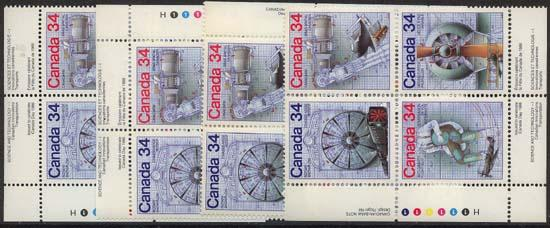 Canada - 1986 Science & Technology Blocks  mint #1102a
