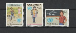 Colombia MNH C673-5 Year Of The Child