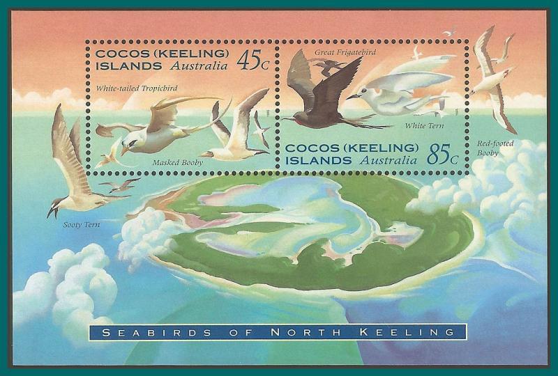 Cocos 1995 Sea Birds, MS MNH 301a,SGMS325