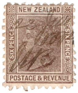 (I.B) New Zealand Revenue : Duty Stamp 6d (1891)