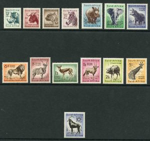 South Africa SG151/64 1954 Set of 14 M/M Cat 32 pounds