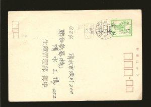 Japan Postmarked Tokyo 1973 Prestamped Postal Card Used