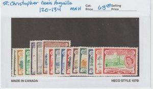 St. Kitts-Nevis 120-34 VF MNH