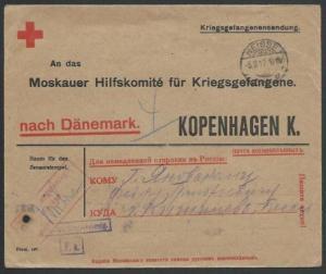 GERMANY 1917 POW cover to Denmark..........................................58084