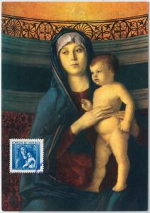 MAXIMUM CARD  - ART / CHRISTMAS: Bellini - Madonna - COSTA RICA 1963