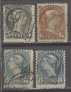 COLLECTION LOT # 3133 CANADA 4 STAMPS (#43 FAULTY) 1888+ CLEARANCE CV+$24