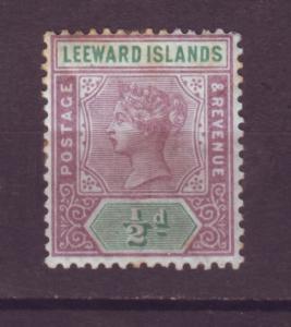 J15996 JLstamps 1890 leeward is mh #1  wmk 2 queen