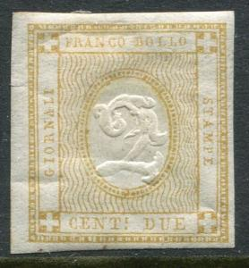 ITALY # P1 Hinged Imperf Issue 4 Clear Margins - NEWSPAPER STAMP - S5713