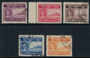 Thailand #275-6,8,80-1  CV $3.60
