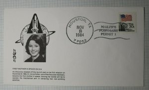 First Mother in Space Dr Anna Fischer The Discovery Houston TX 1984 Space Cover