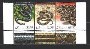 Israel. 2017. 2591-93. Snakes fauna. MNH.