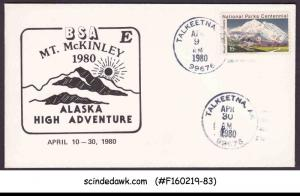 UNITED STATES - 1980 BSA MT. MCKINLLEY ALASKA HIGN ADVENTURE COVER WITH CANCL.