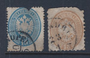 AUSTRIA #20,21  SCV $36.50 STARTS @ SPACE FILLER PRICE