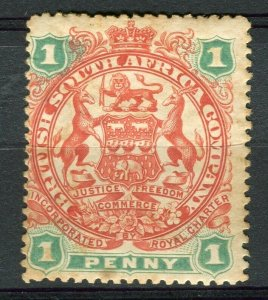 RHODESIA: 1896-97 early classic Springbok issue unused Shade of 1d. value
