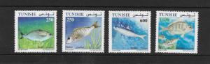FISH - TUNISIA #1533-36  MNH