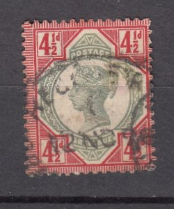 J27529 1887-92 great britain used #117 queen $45.00 scv