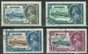 MAURITIUS 1935 KGV SILVER JUBILEE SET USED