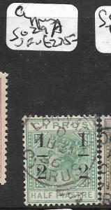 CYPRUS  (P0412B) QV 1/2P SURCH SG 29A   SCARCE  VFU