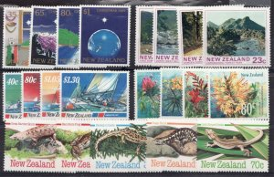 5 Modern New Zealand mini sets of mint hinged stamps #577 // 963 - cv$18