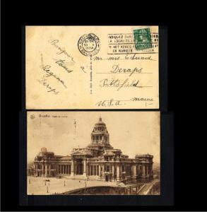 1934 - Belgium Picture postcard - Bruxelles - Palais de Justice [B09_123]