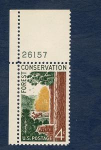 1122 Forest Conservation Single W/ Plate Number Mint/nh (Free Shipping)