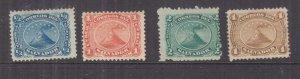 EL SALVADOR, 1867 set of 4, mint no gum.
