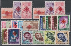 HAITI Sc B2-B9, CB9-CB18 MLH VF RED CROSS €60.50