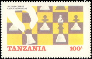 Tanzania #304-305, Complete Set(2), 1986, Rotary, Chess, Never Hinged