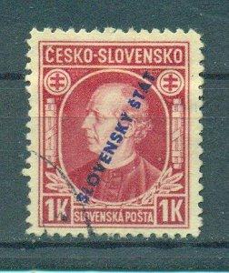 Slovakia sc# 28a (2) used cat value $.90