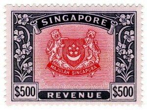 (I.B) Singapore Revenue : Duty Stamp $500