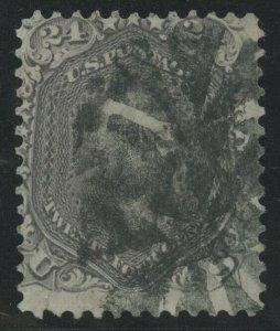 #78 24c 1862 DARK LILAC F-VF USED (APP) WITH CROWE CERT CV $400 AU1078