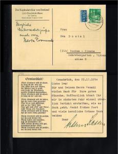 1950 - Allied Occupation Card - Von Osnabrück nach Bochum [HC054]