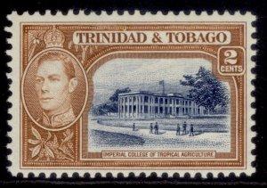 TRINIDAD & TOBAGO GVI SG247, 2c blue & yellow-brown, M MINT.