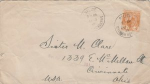 Cover Belize British Honduras to USA 1921