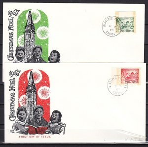Canada, Scott cat. 476-477. Christmas issue. 2 First day covers. ^