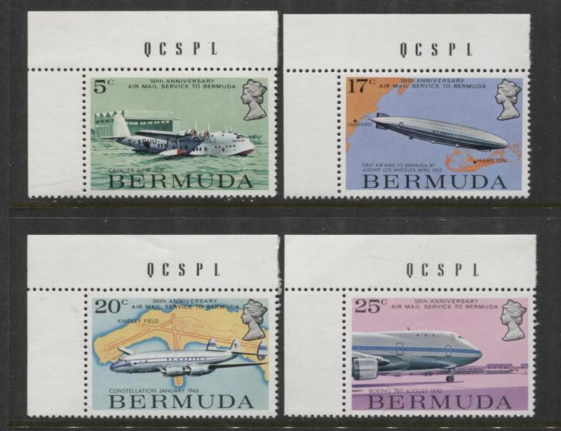 Bermuda - Scott 318-21 -Air Mail Service Issue -1975 - MNH - Set of 4 Stamps