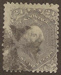 78b Used, 24c. Washington, Fancy cancel, scv: $425