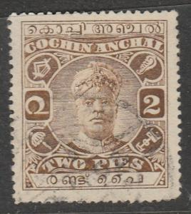 Inde / Cochin  1918  Scott No. 23  (O)