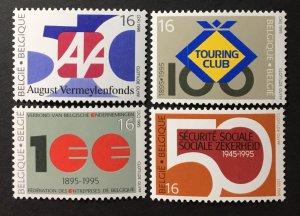 Belgium 1994 #1569-72, MNH, CV $4