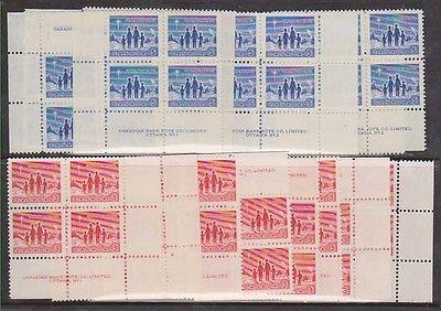 Canada - #434-435 - 1964 Christmas Set in Blocks VF-NH